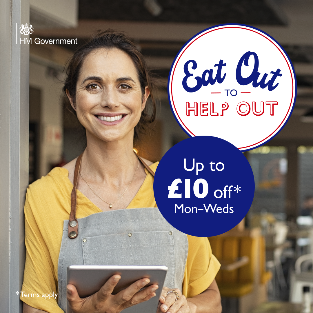 50% off Food - Eat Out to Help Out in August